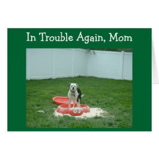 IN TROUBLE MOM=MOTHER'S DAY GREETING CARD