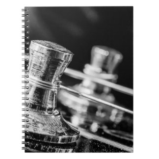 In Tune electric guitar strings tuning posts Notebook