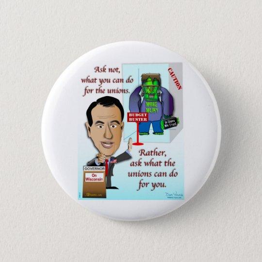 In Union We Trust 6 Cm Round Badge