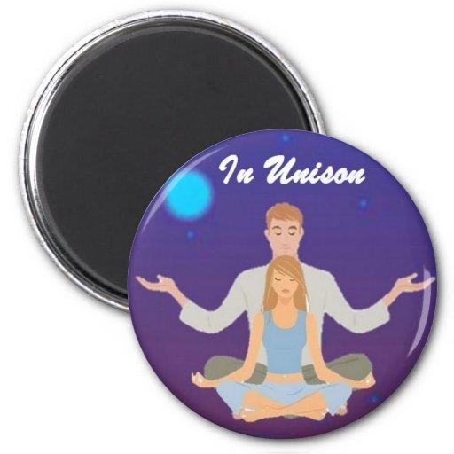 In Unison Button Magnet