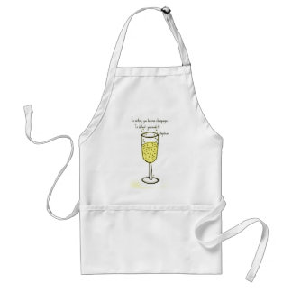 In victory, you deserve champagne print by jill standard apron