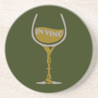 In Vino Veritas custom coaster
