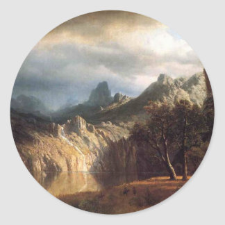 In Western Mountains by Robert Bierstadt Sticker