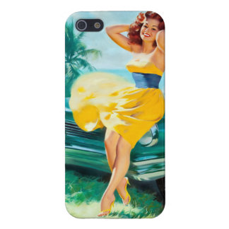 In Yellow Dress Pin Up iPhone 5 Case