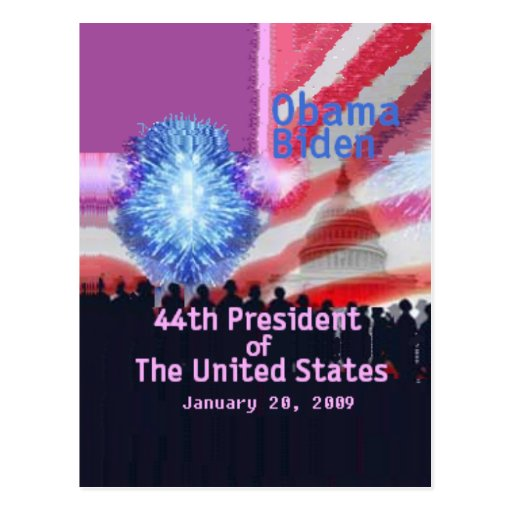 Inaugural 44th Postcard