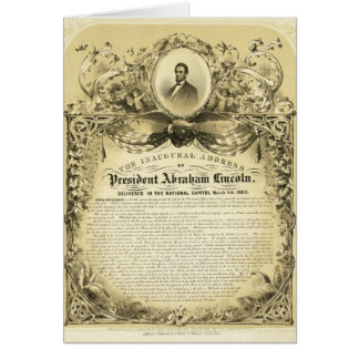 Inaugural Address of Abraham Lincoln March 4 1865 Card
