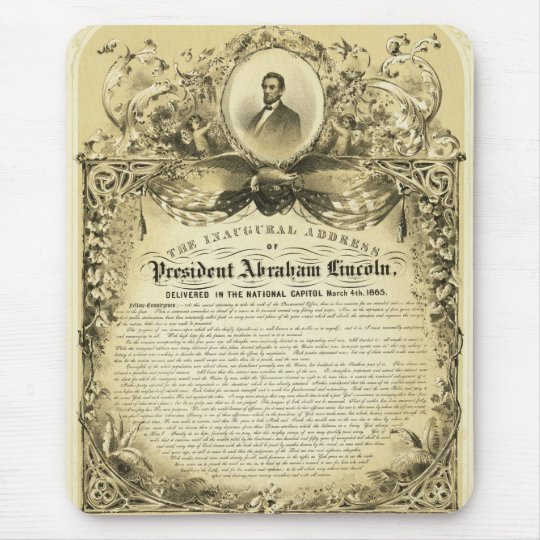Inaugural Address of Abraham Lincoln March 4 1865 Mouse Mat