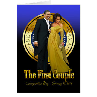 Inaugural Ball - The First Couple Greeting Card