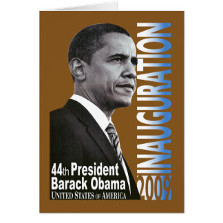 Inauguration 2009 (brown) card
