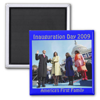 inauguration day  2009 square magnet