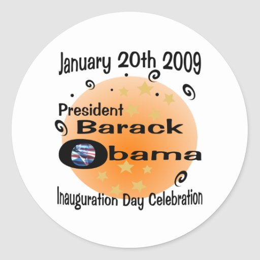 Inauguration Day Celebration Round Stickers