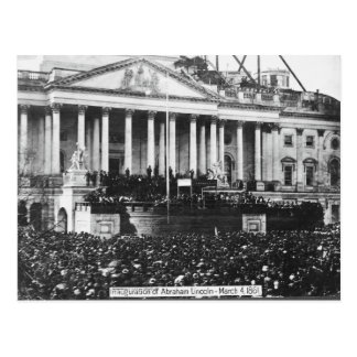 Inauguration of Abraham Lincoln March 4, 1861 Postcard