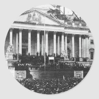 Inauguration of Abraham Lincoln March 4, 1861 Round Sticker