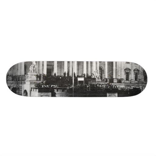 Inauguration of Abraham Lincoln March 4, 1861 Custom Skateboard