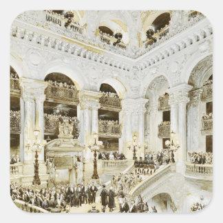 Inauguration of the Paris Opera House Square Sticker