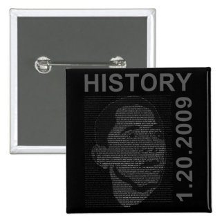inauguration speech with embeded image 15 cm square badge