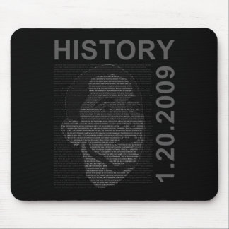 inauguration speech with embeded image mouse mat
