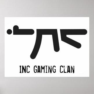 INC AK47 Black Logo Poster