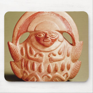 Inca agricultural deity wearing a moon headdress mouse pad