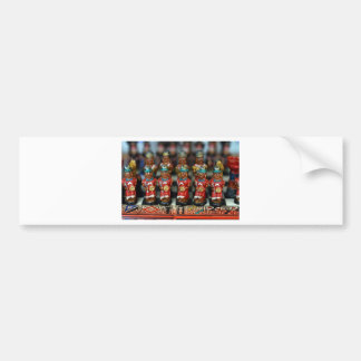 Inca chess set pieces bumper sticker