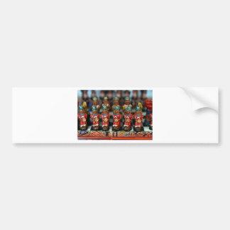 Inca chess set pieces bumper stickers