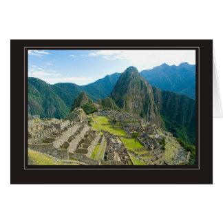 Inca citadel of Machu Picchu, Cuzco - Peru Cards