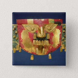 Inca mask 15 cm square badge