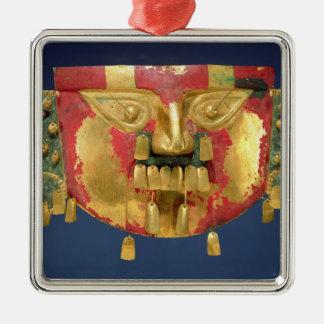 Inca mask christmas ornament