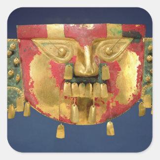 Inca mask square sticker