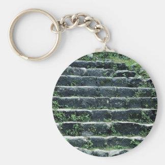 Inca ruins, Machu Picchu, Peru Basic Round Button Key Ring