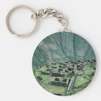 Inca ruins, Pisac, Peru Key Chain