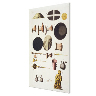Inca tools and artefacts, Peru, from 'Le Costume A Canvas Print