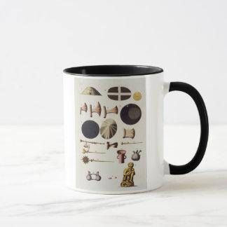 Inca tools and artefacts, Peru, from 'Le Costume A Mug