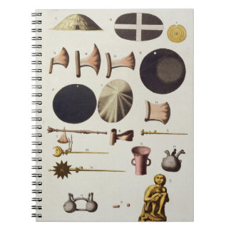 Inca tools and artefacts, Peru, from 'Le Costume A Notebook