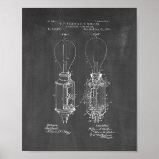 Incandescent Lamp Socket Patent - Chalkboard Poster