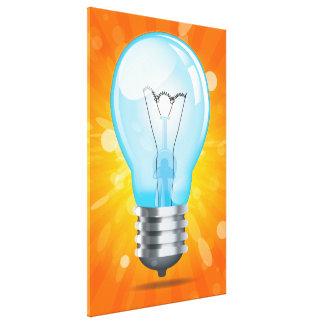 Incandescent light bulb canvas prints