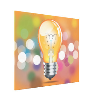 Incandescent light bulb gallery wrapped canvas
