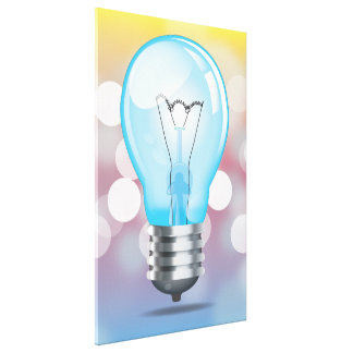 Incandescent light bulb gallery wrap canvas