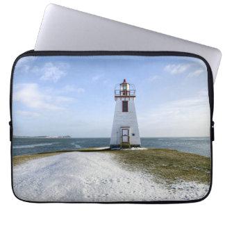 Inch Arran Lighthouse | New Brunswick Laptop Sleeve