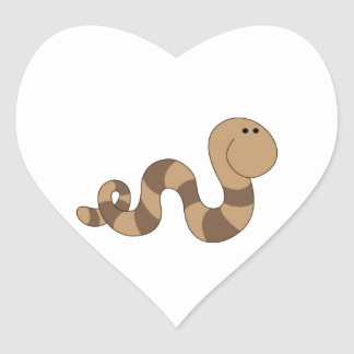 Inchworm Heart Sticker