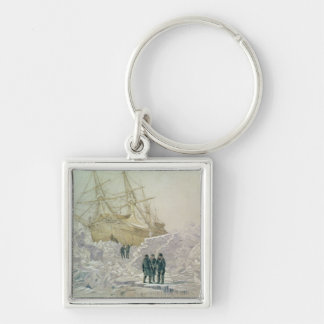 Incident on a Trading Journey: HMS Terror Silver-Colored Square Key Ring