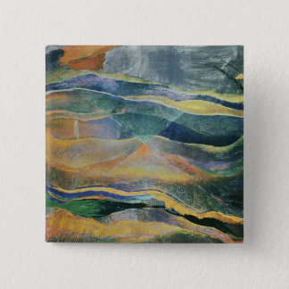 Incidents of Colours and Plains (tempera and penci 15 Cm Square Badge