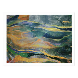 Incidents of Colours and Plains (tempera and penci Postcard