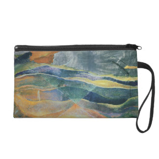 Incidents of Colours and Plains (tempera and penci Wristlet Clutch