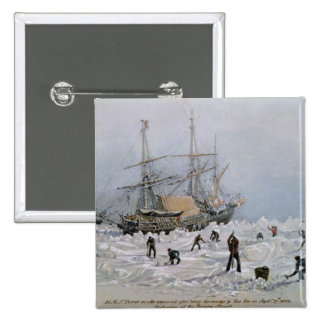 Incidents on a Trading Journey: HMS Terror 15 Cm Square Badge