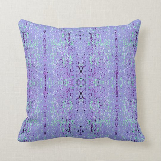 'Inclination' Purple and Green Pattern Cushion