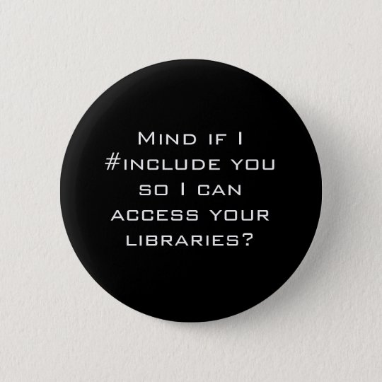 #include 6 cm round badge