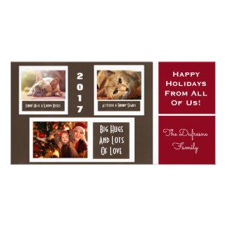 Include Your Pets Christmas Custom Photo Card