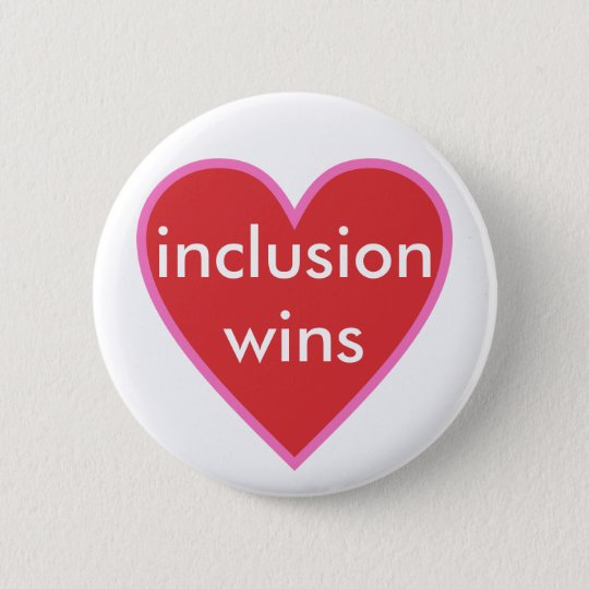 inclusion wins 6 cm round badge