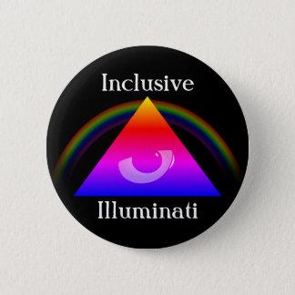 Inclusive Illuminati 6 Cm Round Badge